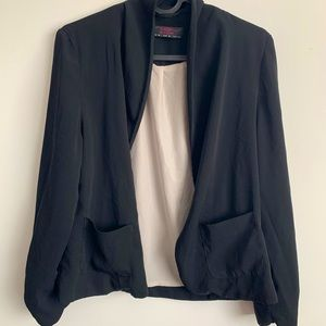 Classic jacket, no buttons, loose style